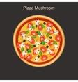Pizza mushroom vector image vector image