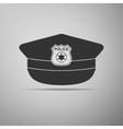 Police cap icon vector image vector image