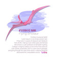 pterosaur among the clouds flying dinosaur vector image