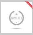 quality badge icon vector image vector image