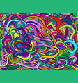 rainbow color colorful psychedelic crazy abstract vector image vector image