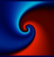 red and blue swirl background vector image vector image