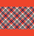 red check pixel plaid seamless pattern vector image vector image