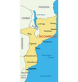 Republic of Mozambique - map vector image vector image