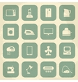 Retro home appliances icons vector image vector image