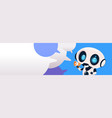 robot chatterbot holding megaphone over chat vector image