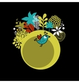 Round pattern with cute bird vector image vector image