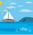 sailboat and sea design vector image