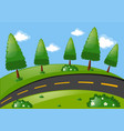 scene with road and park vector image