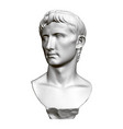 sculptural portrait octavian august front view vector image vector image