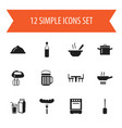 set of 12 editable cook icons includes symbols vector image vector image