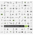 Set of restaurant stickers vector image vector image