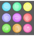 set of round shapes in watercolor style vector image
