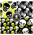 set seamless patterns with skulls vector image vector image