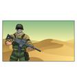 soldier in desert vector image