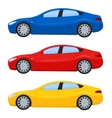 Sports cars in different colors vector image