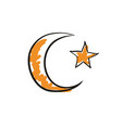star and crescent islamic symbol vector image