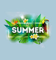 summer holiday with flower and toucan vector image vector image
