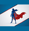 Super hero woman standing graphic vector image