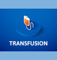 transfusion isometric icon isolated on color vector image vector image