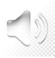 transparent sound vector image vector image
