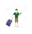 traveler flat character design vector image