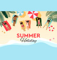 tropical beach poster summer holiday vector image vector image