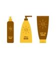 Tube of sunscreen suntan oil cream After sun vector image vector image