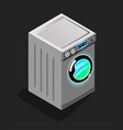 washing machine icon isolated on grey vector image vector image