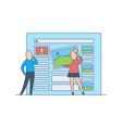 web site or application design development - flat vector image vector image