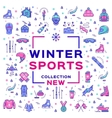 Winter sport collection collage Branding sports vector image vector image