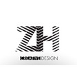 zh z h lines letter design with creative elegant vector image vector image
