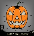 Halloween pumpkin head vector image