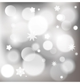 Abstract christmas background with shiny bokeh vector image vector image