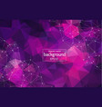 abstract purple geometric polygonal background vector image