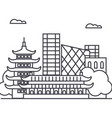 beijing china line icon sign vector image vector image