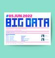 big data technology conference business design vector image