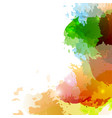 bright colorful paint splatter background design vector image vector image