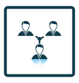 Businessmen connection icon vector image vector image