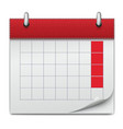 calendar icon notebook business of planning vector image