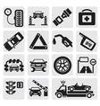 Car service set vector image vector image