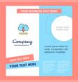 cloud downloading company brochure template vector image vector image
