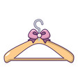 coat hanger icon cartoon style vector image vector image