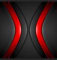 contrast red and black wavy corporate background vector image vector image