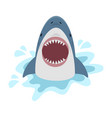 cute shark with open mouth vector image vector image