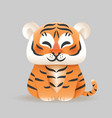 cute tiger - isolated vector image