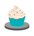 decorated cupcake icon vector image vector image
