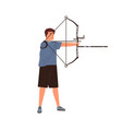 disabled athlete archer aiming hold sports bow vector image vector image