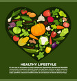 eat healthy commercial poster with tasty vector image vector image