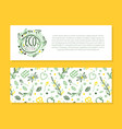 eco horizontal banner template with space for text vector image